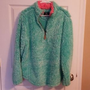 Simply Southern sherpa pullover size L EUC